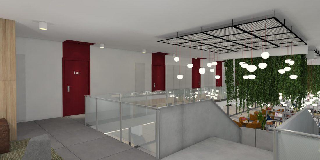 Piso 1 - Vista Lobby - U-LOFT Braga