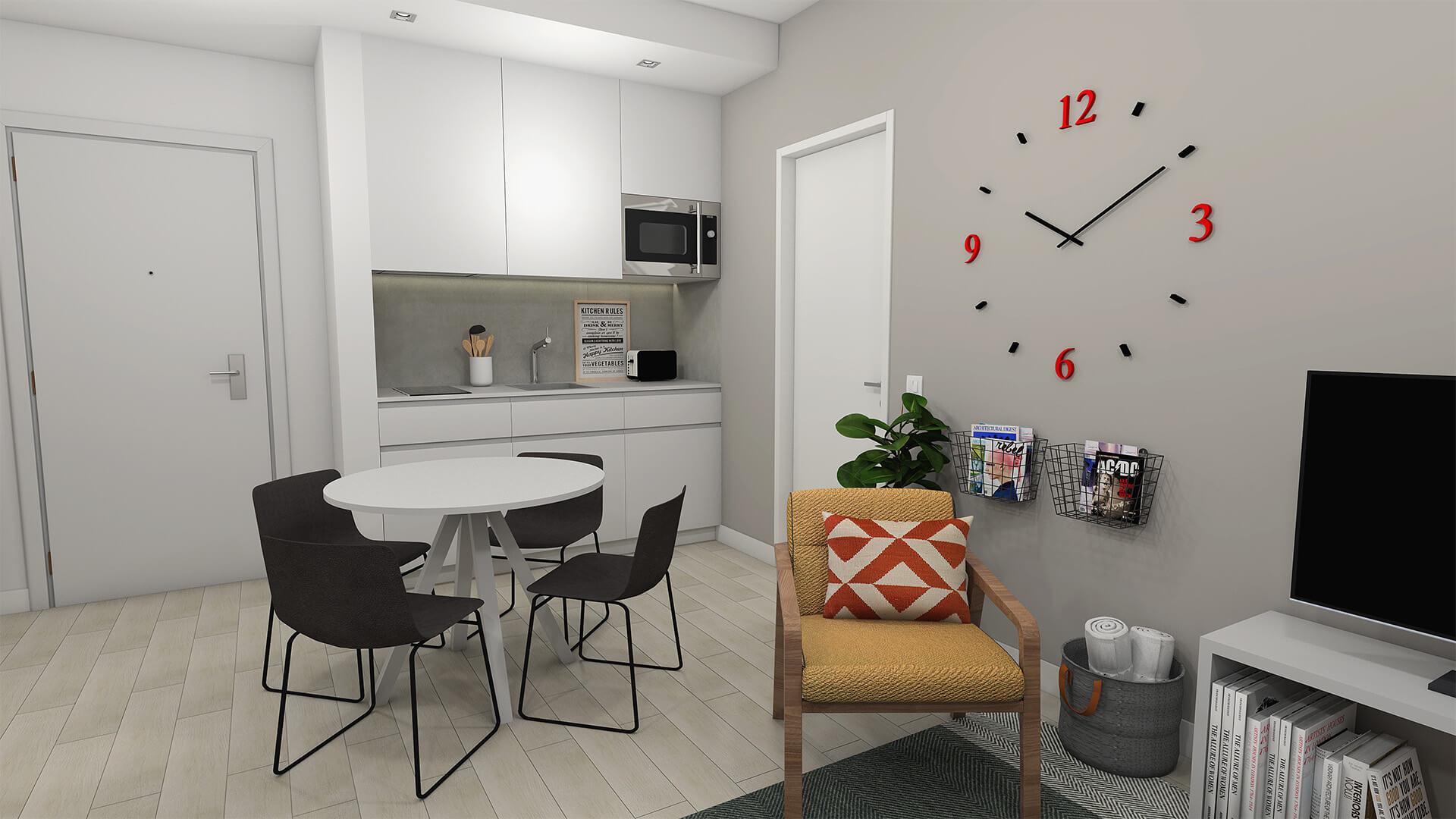T2 - Frente Cozinha - U-LOFT Braga